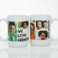 5 Photos Loving Message 15 oz. Coffee Mug in White