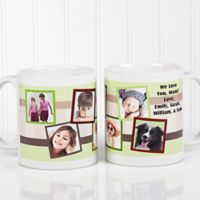 Any Message Photo Collage 11 oz. Mug in White