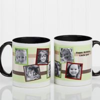 Any Message Photo Collage 11 oz. Mug in Black/White
