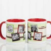 Any Message Photo Collage 11 oz. Mug in Red/White
