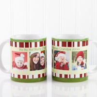 Christmas Photo Message 11 oz. Coffee Mug in White