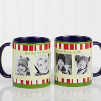 Christmas Photo Message 11 oz. Coffee Mug in Blue