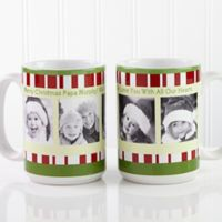 Christmas Photo Message 15 oz. Coffee Mug in White