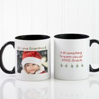 Christmas Photo Wishes 11 oz. Coffee Mug in Black