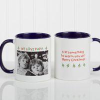 Christmas Photo Wishes 11 oz. Coffee Mug in Blue