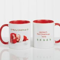 Christmas Photo Wishes 11 oz. Coffee Mug in Red