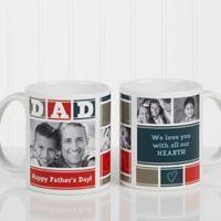 Dad Photo Collage 11 oz. Coffee Mug in White