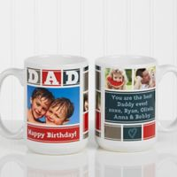Dad Photo Collage 15 oz. Coffee Mug in White