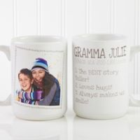 Definition of Grandma 15 oz. Photo Coffee Mug in White