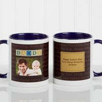 Just For Him 11 oz. Photo Coffee Mug in Blue/White