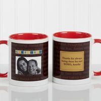 Just For Him 11 oz. Photo Coffee Mug in Red/White