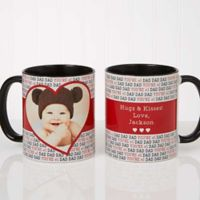 Love You This Much 11 oz. Coffee Mug in Black/White