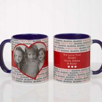 Love You This Much 11 oz. Coffee Mug in Blue/White