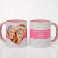 Love You This Much 11 oz. Coffee Mug in Pink/White