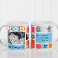Mom Photo Collage 11 oz. Coffee Mug in White
