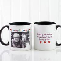 Photo Message 11 oz. Coffee Mug in Black