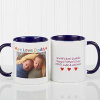 Photo Message 11 oz. Coffee Mug in Blue