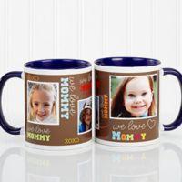 Loving You 11 oz. Photo Coffee Mug in Blue
