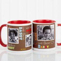 Loving You 11 oz. Photo Coffee Mug in Red