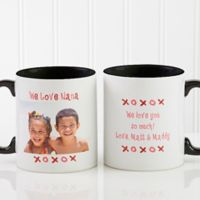 Loving You 11 oz. Photo Coffee Mug in Black/White