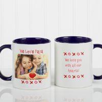 Loving You 11 oz. Photo Coffee Mug in Blue/White