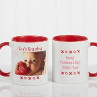 Loving You 11 oz. Photo Coffee Mug in Red/White