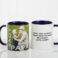 Loving Them 11 oz. Photo Coffee Mug in Blue