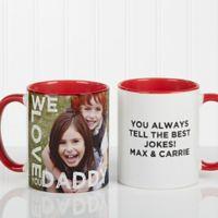 Loving Them 11 oz. Photo Coffee Mug in Red