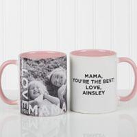 Loving Them 11 oz. Photo Coffee Mug in Pink