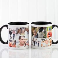 Create A Photo Collage 11 oz. Coffee Mug in Black/White