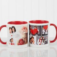 Create A Photo Collage 11 oz. Coffee Mug in Red/White