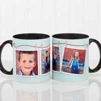 3 Photo Collage 11 oz. Coffee Mug in Black/White