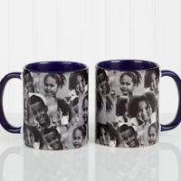 3 Photo Collage 11 oz. Photo Coffee Mug in Blue