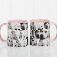 3 Photo Collage 11 oz. Photo Coffee Mug in Pink