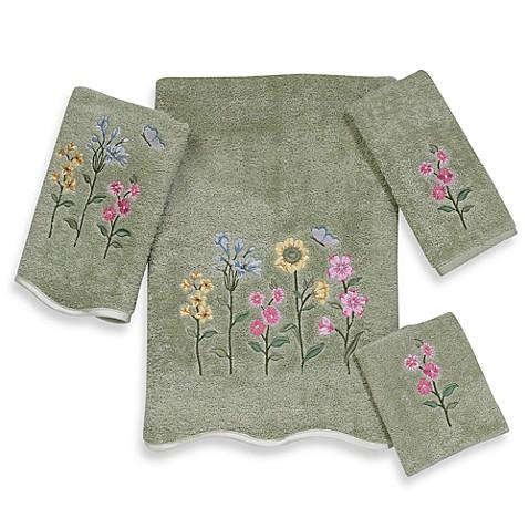 Avanti Premier Country Floral Sage Bath Towels 100