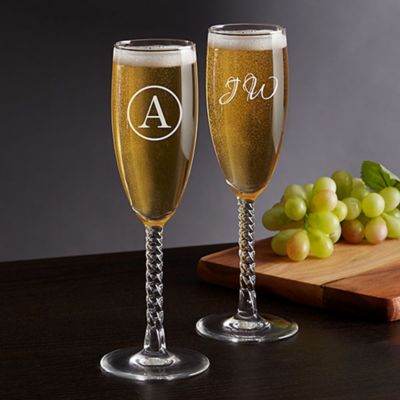 buy engraved champagne glasses from bed bath beyond