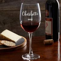 Bridal Party Personalized Red Wine Glass
