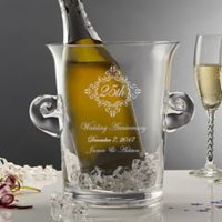 Anniversary Memento Engraved Crystal Chiller/Ice Bucket