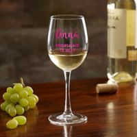 Bridal Party Personalized White Wine Glass
