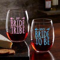 Bride Tribe Personalized 21oz. Stemless Wine Glass