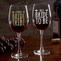 Bride Tribe Personalized 19.25 oz. Red Wine Glass
