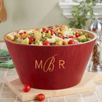 Classic Celebrations Monogram Bamboo Serving Bowl
