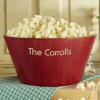 Popcorn Night Large Bamboo Bowl