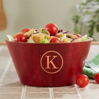 Classic Celebrations Small Monogram Bamboo Bowl