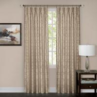 Windsor Pinch Pleat 63-Inch Rod Pocket/Back Tab Window Curtain Panel in Camel