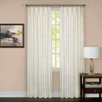 Windsor Pinch Pleat 63-Inch Rod Pocket/Back Tab Window Curtain Panel in Ivory