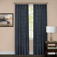 Windsor Pinch Pleat 63-Inch Rod Pocket/Back Tab Window Curtain Panel in Navy
