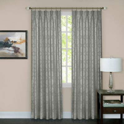 achim windsor pinch pleat 63inch rod pocketback tab window curtain panel in