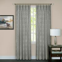 Windsor Pinch Pleat 63-Inch Rod Pocket/Back Tab Window Curtain Panel in Silver