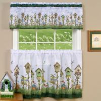 Achim Home Sweet Home 36-Inch Kitchen Window Curtain Tier Pair and Valance in Multi